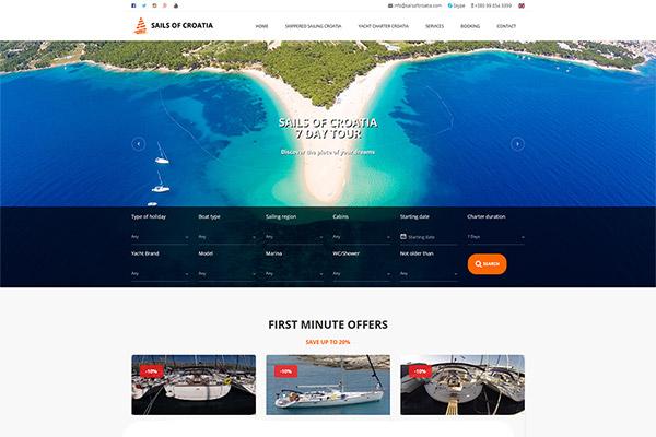 Sails of Croatia | Razvoj web aplikacija