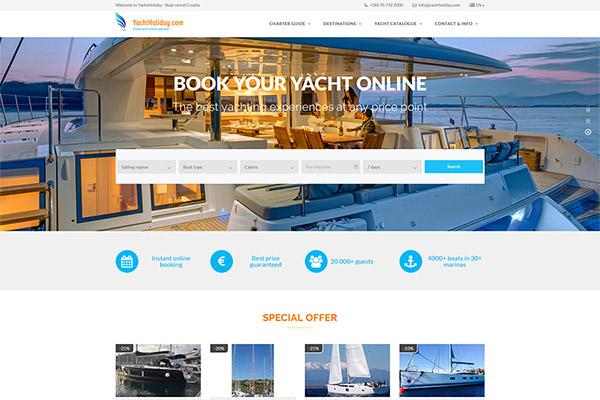 Yacht Holiday | Razvoj web aplikacija