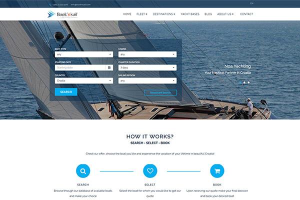 Book'n'Sail | Razvoj web aplikacija