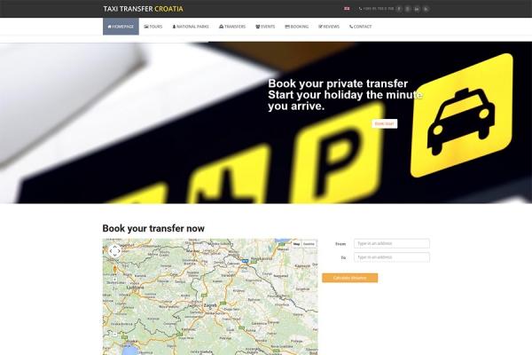 Taxi Transfer Croatia | Razvoj web aplikacija