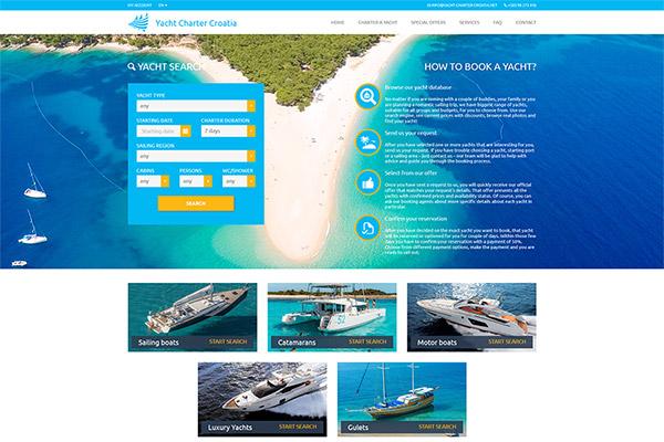 Yacht Charter Croatia | Razvoj web aplikacija